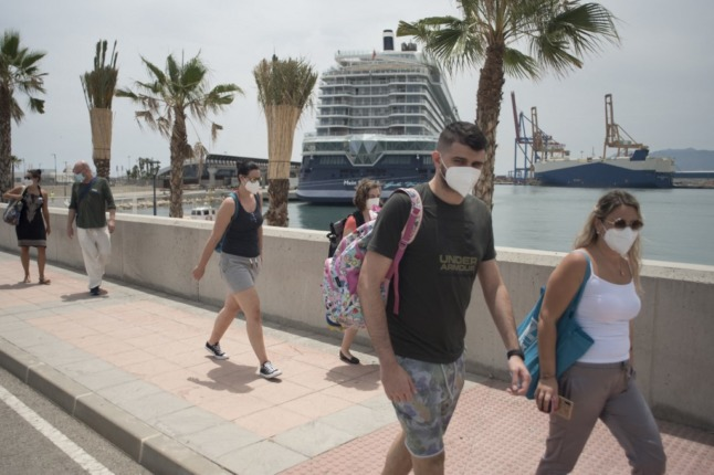Smooth sailing: First international cruise ship since start of pandemic docks in Spain