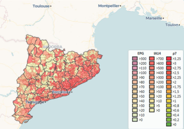 Why does Catalonia have the highest infection rate in all of the EU?