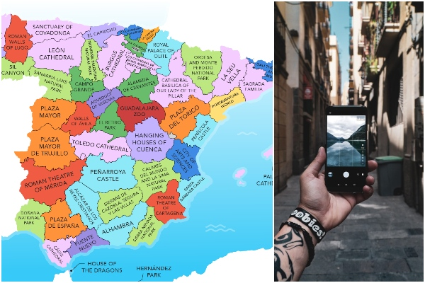 MAP: the one attraction you have to visit in each province in Spain