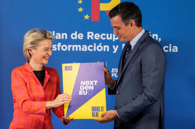 Spain receives first €9-billion share of EU Covid recovery funds