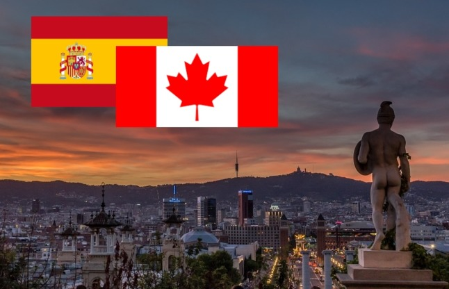 Where in Spain do all the Canadians live?