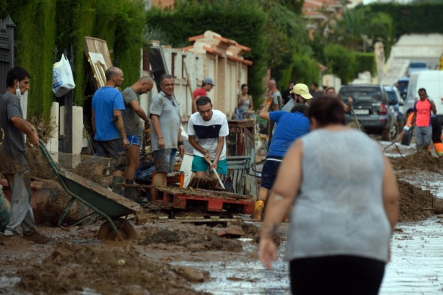 In Pictures: Spain's flood-devastated towns taken on massive clean-up
