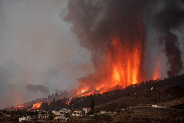 Volcano erupts on Spain's Canary Islands