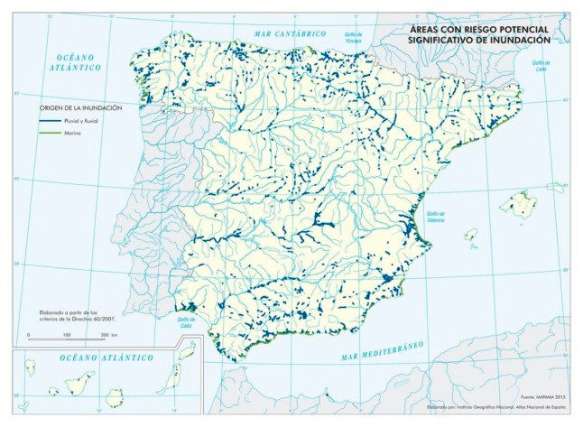 map risk of flooding spain
