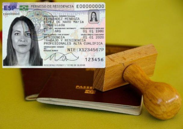 Do non-EU nationals have to get a new TIE Spanish residence card (pictured) when they renew their passports? Background photo: Jacqueline Macou/Pixabay